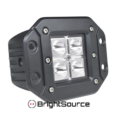 74002 Brightsource 3 Off Road Led Flush Mount Cube Lamp